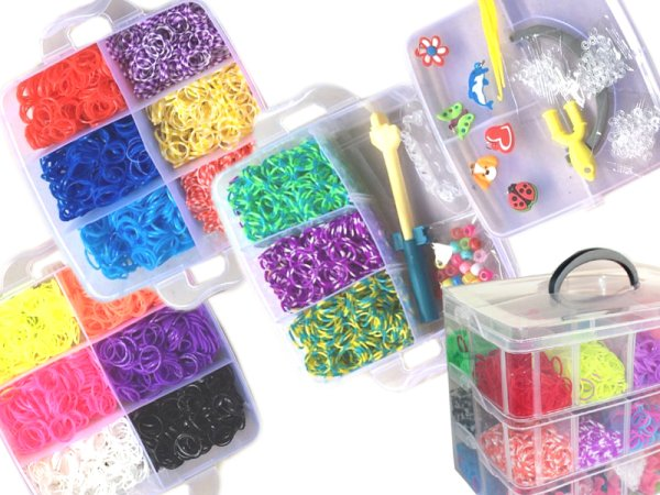 Loom DIY bands<br> Bänderset XL 3<br>rows Box