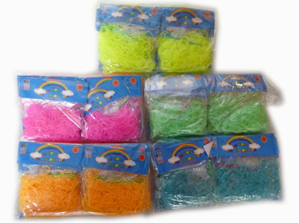 Loom Bandes<br> Élastiques Glow in<br>the Dark 300 pc