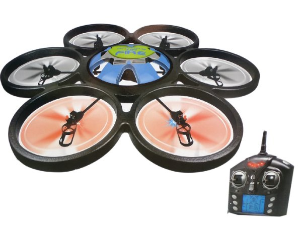 Hexacopter with<br>camera 2.4GHz V323