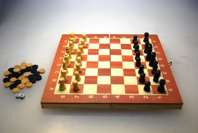 Chess Checkers<br> Backgammon Board 3<br>in 1