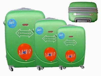 Reisekoffer grün 3er 886