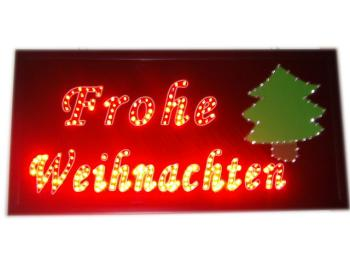 Advertising sign<br> with LED (Glad<br>Christmas)