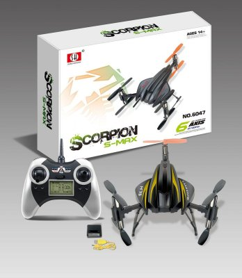 RC Quadrocopter<br> 6047A 2.4 GHz, 4<br>kanalen, 6 assen