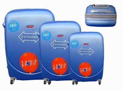 Reisekoffer blau 3er 886