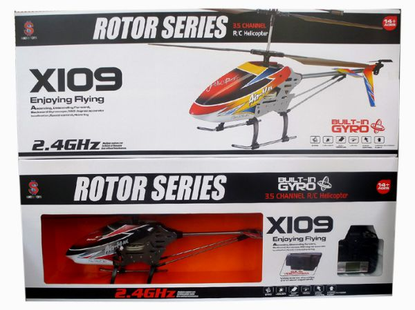 Gyro R / C<br> helicopter, 3.5<br>channel 2.4 GHz X109