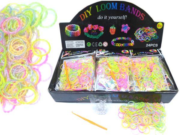 Loom bandes, 200<br> pièces, motif<br>coloré maturité