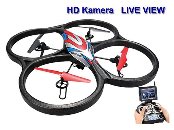 RC Quadrocopter<br> 2,4GHz V666 mit<br>live view