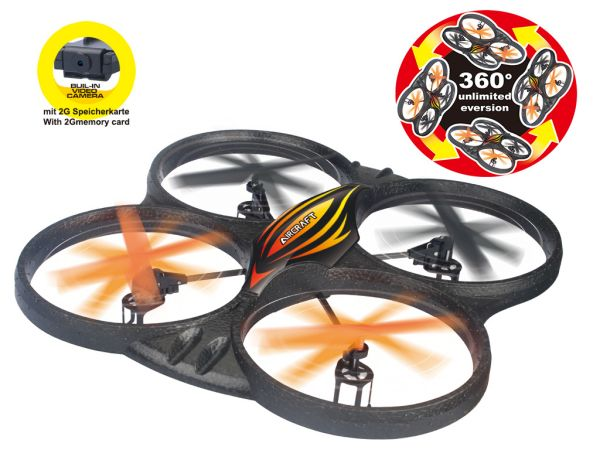 Quadcopter 2.4 GHz<br> 258-V with camera,<br>diameter 40