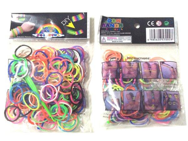 Loom Bänder Loom<br>bands 200 Stk. neon