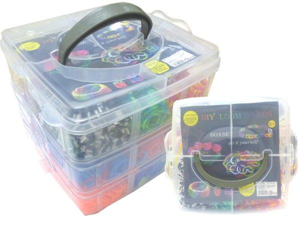 Loom Bänderset XL<br> 3reihig Box, 4500<br>cassettes
