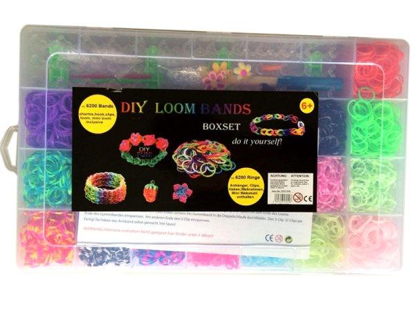 Loom bands<br> Bänderset Boxset<br> XXL, 6200 Stk. ...