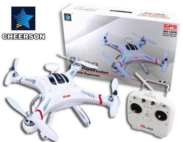RC Quadrocopter<br> drone Cheerson GPS<br>with HD camera