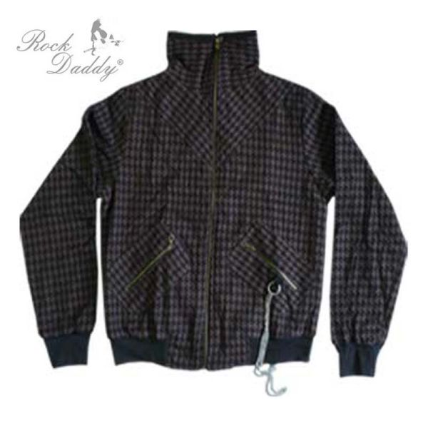 Sprawdzone kurtka<br> wzór czarny /<br>brązowy