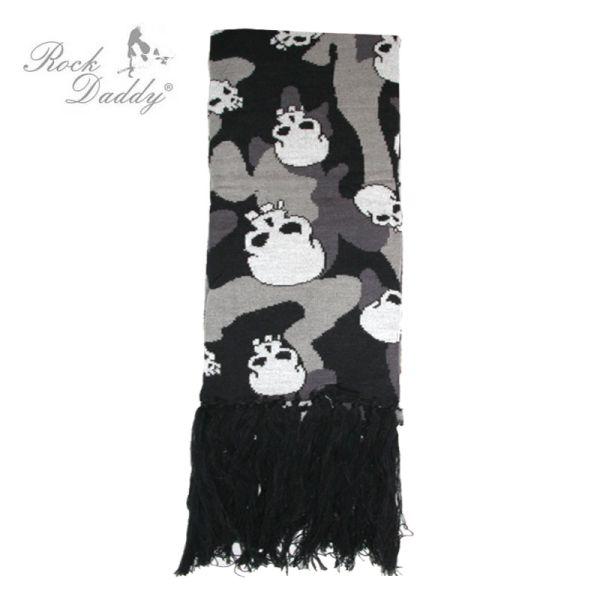 Schal in<br> schwarz/grau<br> Camouflage Muster ...