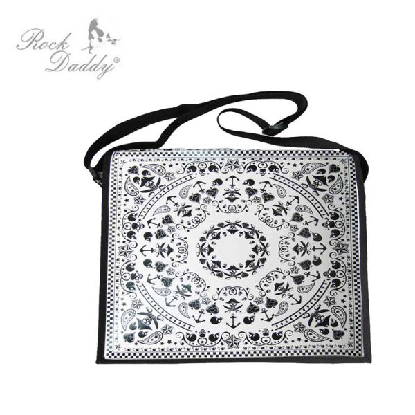 Paisley bag PU<br>white / black