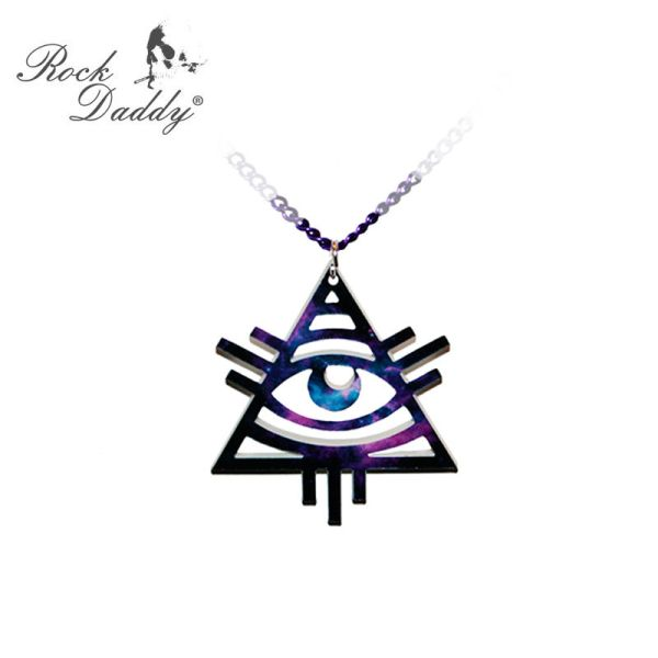 Collana nero Illuminati Eye
