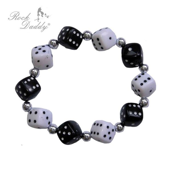 Dice Bracelet in<br>black / white