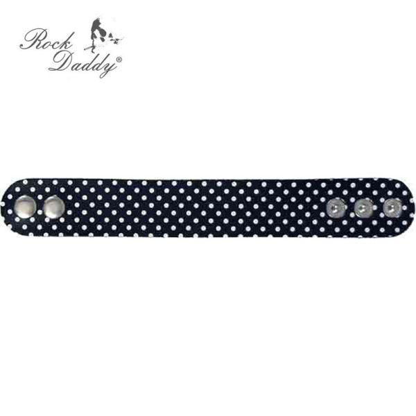 Bracelet in black<br>with white dots