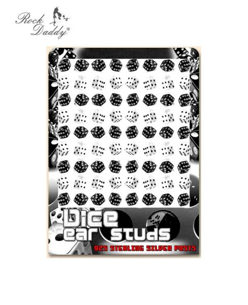 Studs cubi in<br>bianco e nero