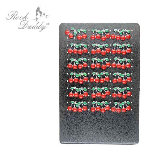 Earrings with<br>cherries pattern