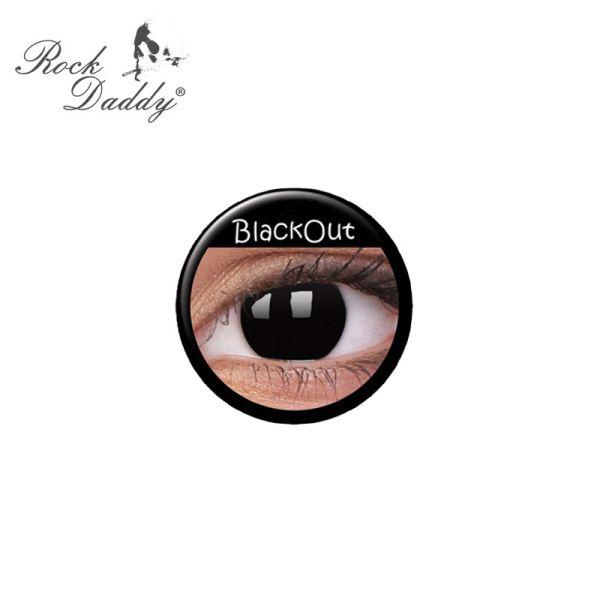 Kontaktlinsen<br> BlackOut ohne<br> Stärke, weiche, ...