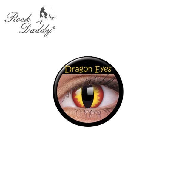 Kontaktlinsen<br> Dragon Eyes ohne<br>Stärke, weiche, Jah