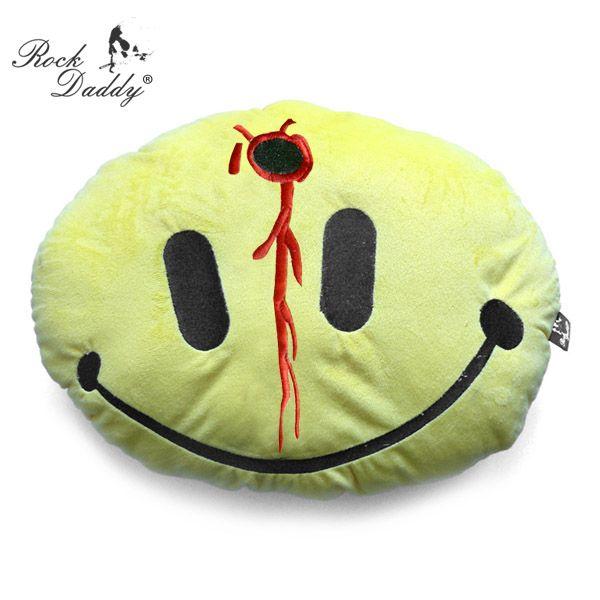 Kissen in<br> Polyfleecebezug<br>Kopfschuss Smiley