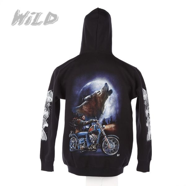 Jacket with hood<br>with print Wild