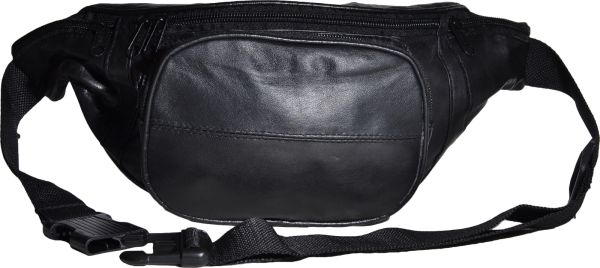 Bauchtasche front<br> zipper genuine<br>leather