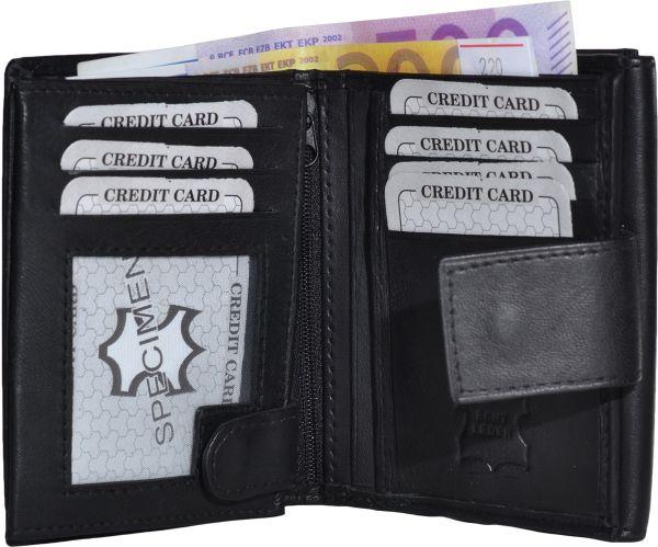 Damen Geldbörse<br> Echt-Leder<br> Außenriegel ...