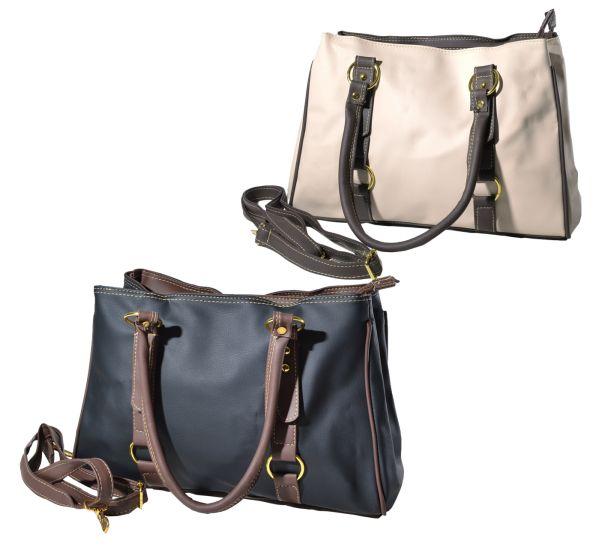 Modische<br> Handtasche -<br>Farbige Griffe