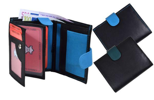 /Geldbörse<br> Portemonnaie<br>2-farbig Nappa-Leder