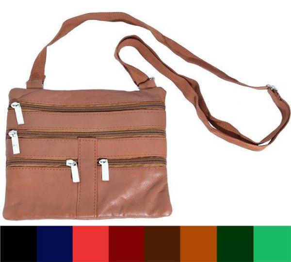 Brustbeutel /<br> Neck-Wallet in 8<br>Farben Echt-Leder