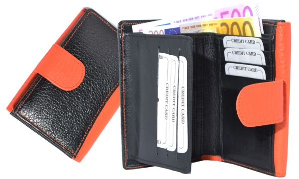 Ladies Purse /<br> Wallet 2-color<br>genuine leather
