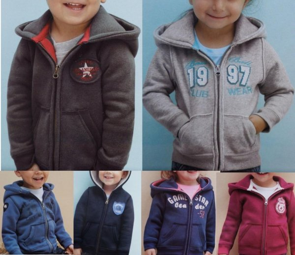 Sweat jacket for<br>girls and boys small