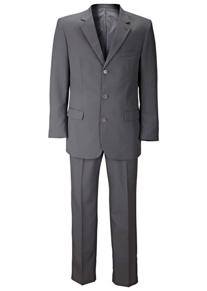 Men suit, 2-piece gray