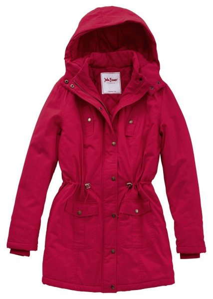 Warme Winter<br>Longjacke Parka rot