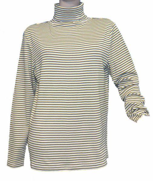 Langarm Streifen<br> Rollkragen Shirt<br>bunt