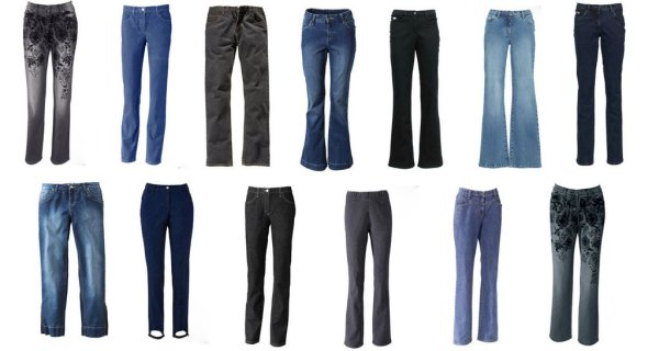 Ladies Jeans Mix,<br> Straight, Bootcut,<br>tube, ... Res