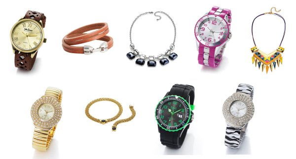 Jewelry Mix,<br> costume jewelery<br>and watches 1A OVP p