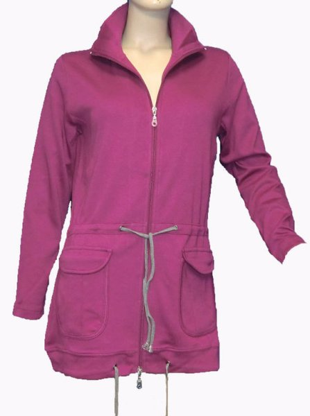 CPM kurtki Długi<br> Długi Zip Jacket<br>winogron