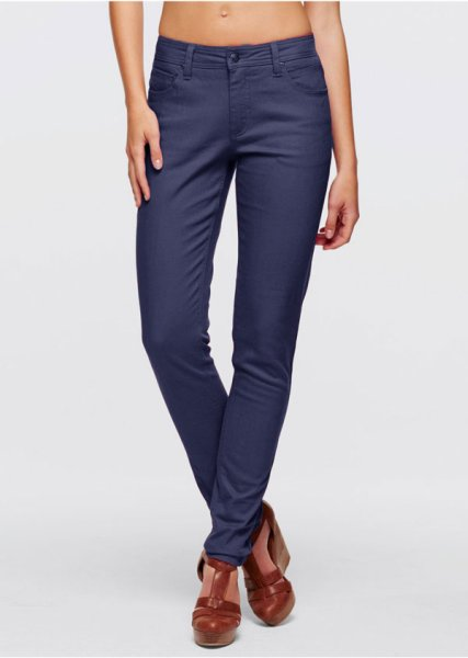 Women stretch<br> pants jeans blue<br>tube
