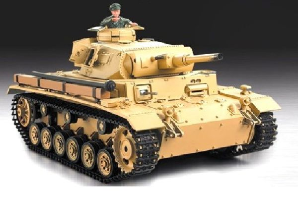 RC Tanks  Diving Panzer III  1:16 HL-smoke and sou