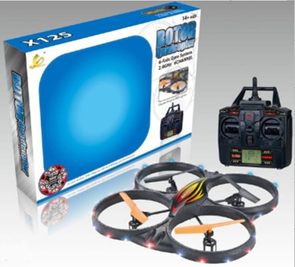 RC 4 Channel<br> 2.4Ghz UFO 6-Axis<br>Gyro X125L camera