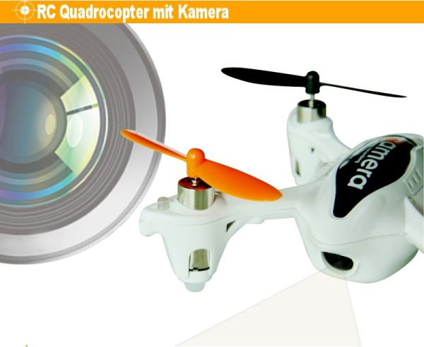 4 channel RC UFO<br> Quadrocopter 6<br>axis. with Camera