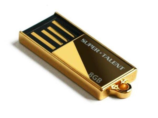 USB FlashDrive<br> 32GB Super-Talent<br>Pico-C *24K GOLD*