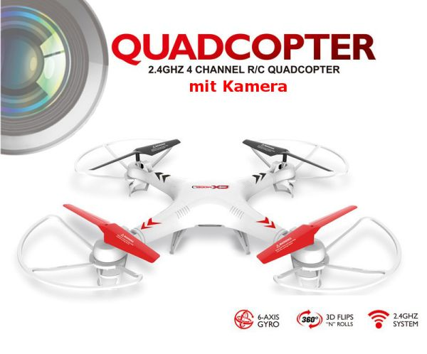 RC 4,5 Kanal<br> 2.4Ghz 6-Achs<br> Quadrocopter mit ...