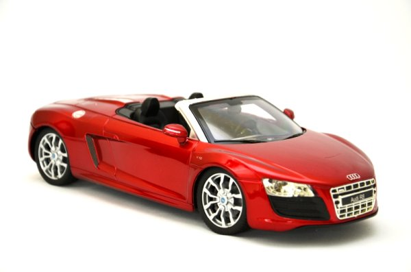 RC Car Audi R8<br> Spyder convertible<br>with red license