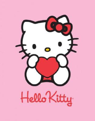 Hello Kitty<br> Fleecedecke Heart<br>Pink