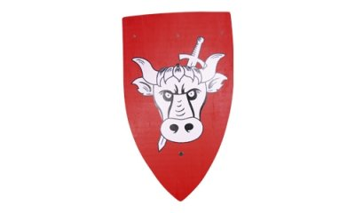 Wood - Paladin<br>Shield 50x30cm bull!